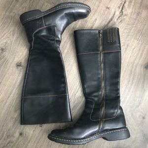 Born Black Leather Boots Size 7.5